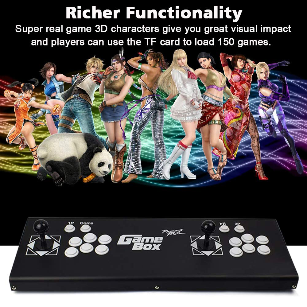 ElementDigital Arcade Game Console 1080P 3D & 2D Games 2350 in 1 Pandora's Box 160 3D Games 2 Players Arcade Machine with Arcade Joystick Support Expand 6000+ Games for PC / Laptop / TV / PS4 by ElementDigital (Image #3)