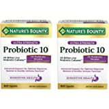 Nature's Bounty 自然之宝 益生菌10膳食补充剂,60粒胶囊,2盒装