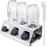 Luxebell soda flaskhållare, 3-pack dropphållare sodastrad av rostfritt stål med uttagbar droppskål droppställ för…