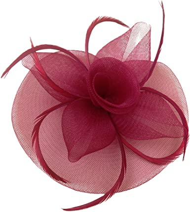 EEVASS Mujer Tocado Sombrero De Fascinator Fancy Dress Carrera Royal Ascot 1920S