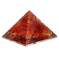 Harmonize orgone cornaline générateur pyramide de guérison reiki guérison cristaux chakra