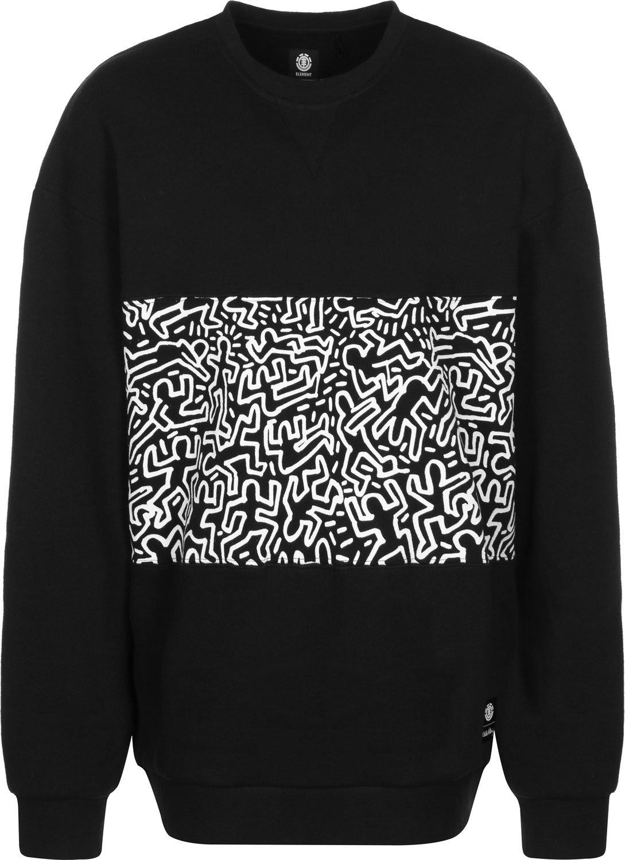 Element Kh Panel Crew Sweatshirt - Flint schwarz