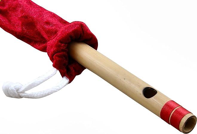 Professionelle Flöte Bansuri Bambus Holzblasinstrument aus Holz Musikinstru E0P4