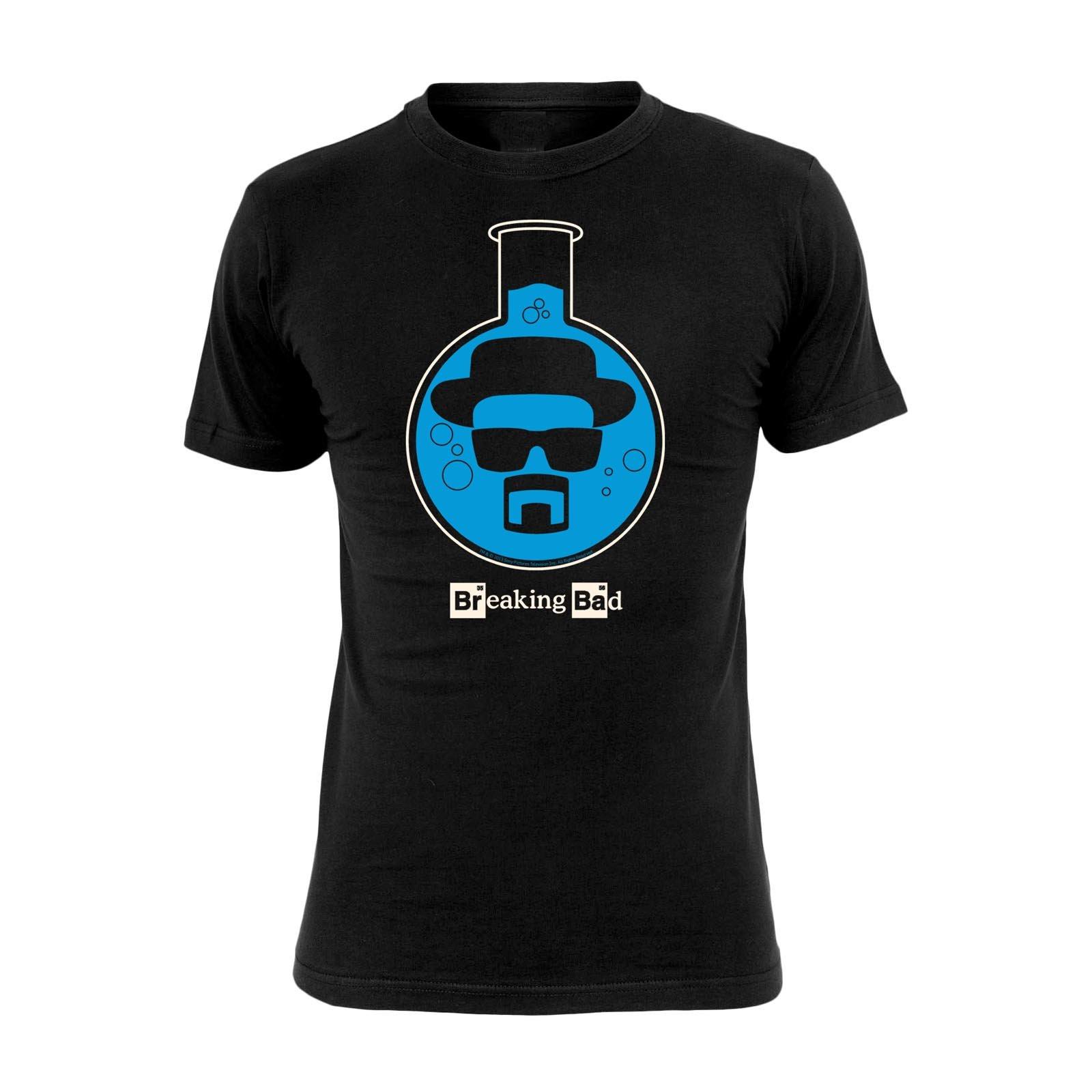 Breaking Bad Comic style XL Reazioni Collaterali Girocollo T shirt Walter White Maglia con stampa