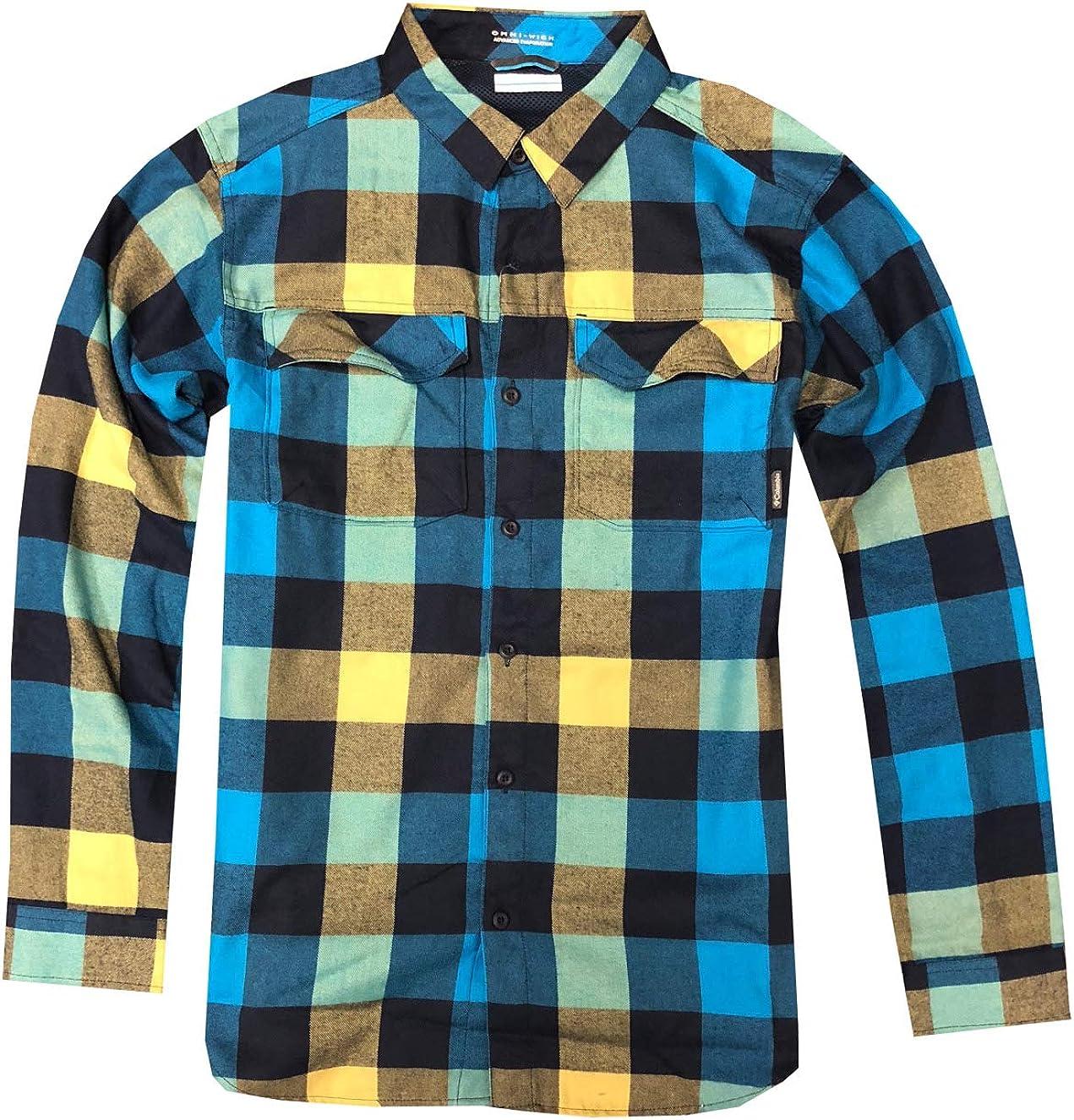 Columbia Kestrel Trail franela Omni-Wick manga larga camisa a ...