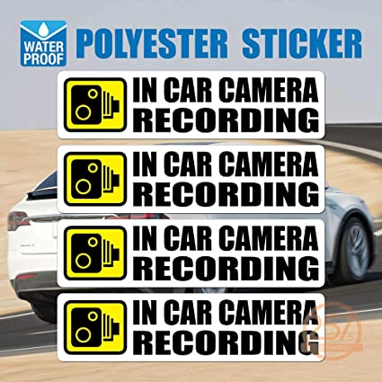 DASH CAM RECORDING V2 CAR STICKER DECAL WINDOW FUNNY BUMPER CCTV HD CAMERA CAM
