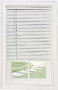 "Achim Home Furnishings Cordless Morningstar 1"" Light Filtering Mini Blind, Width 26inch, Pearl White"