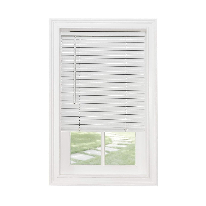 Achim Home Furnishings Cordless GII Morningstar 1 Light Filtering Mini Blind White Length 72inch Drop 27 x 72 Width: 27inch