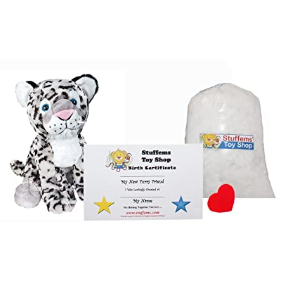 Make Your Own Stuffed Animal Mini 8 Inch Winter The Snow Leopard Kit - No Sewing Required!: Toys & Games