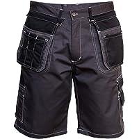 Sólido Pantalones Cortos de Trabajo para Hombres, Elementos