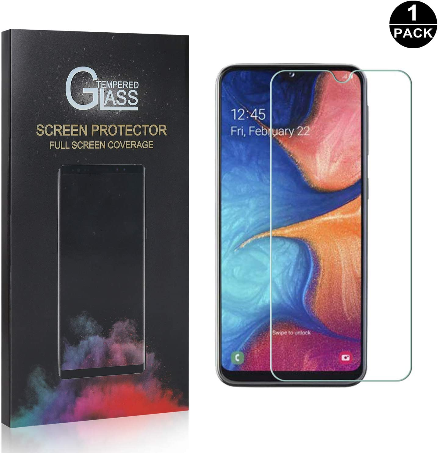 Anti Scratch Anti Bubble 9H Hardness Tempered Glass for Samsung Galaxy A20 // Galaxy A30 SONWO Glass Screen Protector Screen Protector Compatible with Galaxy A20 // Galaxy A30 1 Pack