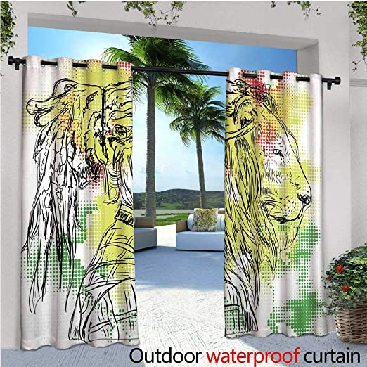 CobeDecor Rainforest Cortina de privacidad para exteriores para ...