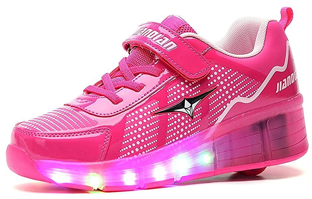 Boy And Girl's LED Light Up Roller Skate Shoes With Wheels for Kids gift.