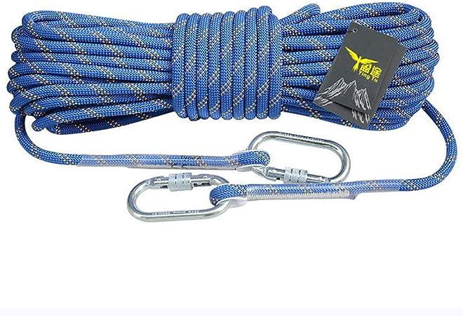 TLMYDD Cuerda de Escalada Exterior Cuerda de Escape de Nylon ...