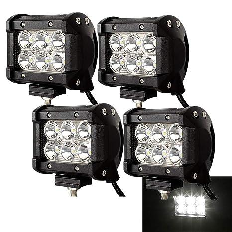 18W LED Arbeitsscheinwerfer Scheinwerfer Offroad Flutlicht für SUV Jeep LKW ATV