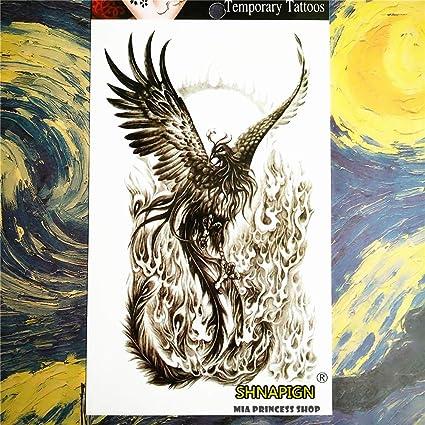 3PC que forma el arte de cuerpo temporal del tatuaje de Phoenix ...