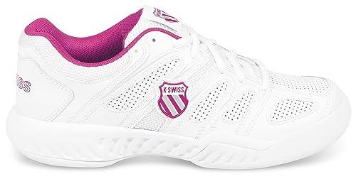 K-Swiss - Zapatilla pádel kswiss calabasas omni, talla 40, color blanco / fucsia: Amazon.es: Zapatos y complementos