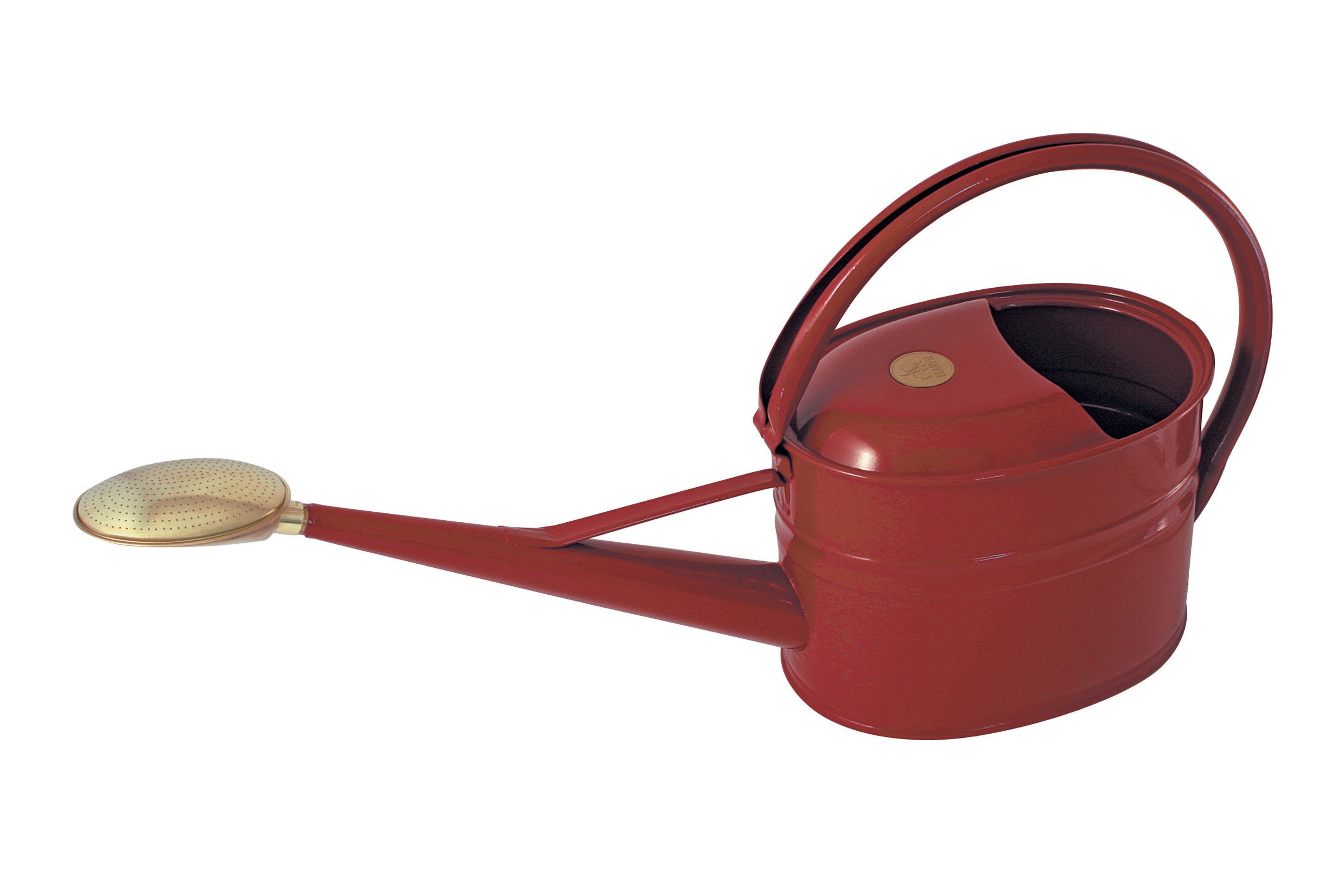 Bosmere Haws Slimcan Metal Watering Can with Oval Rose, 1.3-Gallon/5-Liter, Burgundy
