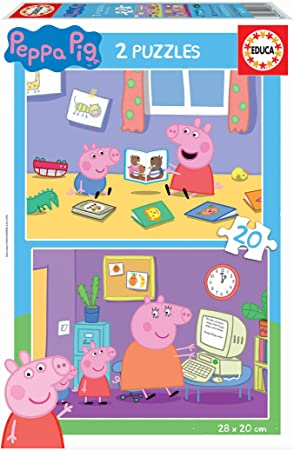 Oferta amazon: Educa Peppa Pig 2 Puzzles de20 Piezas, multicolor (18087)