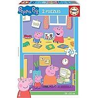 Educa Peppa Pig 2 Puzzles de20 Piezas, multicolor (18087)
