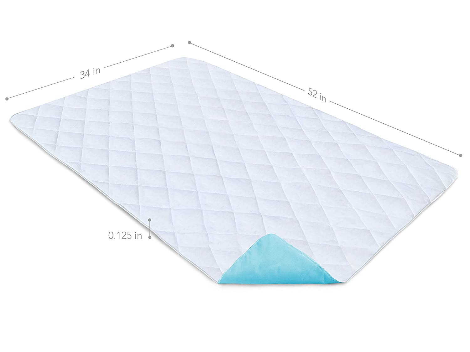 Lovely Amazon PharMeDoc Waterproof Reusable Bed Pad u x inches u Machine Washable Absorbent Bedwetting u Incontinence Bed Pads and Mattress