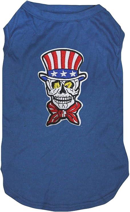 Petitebelle USA - Camisa para Perro, diseño de Calavera, Color Azul: Amazon.es: Productos para mascotas