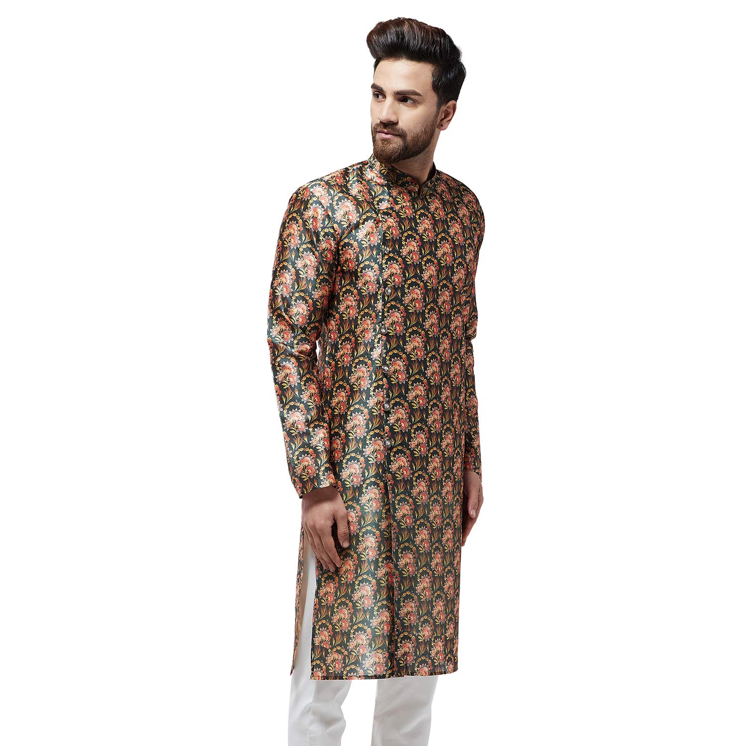 Festival-Men-Dupion-Silk-Kurta-Pajama-Ethnic-Party-Wear-Bollywood-Dress-Pyjama thumbnail 6