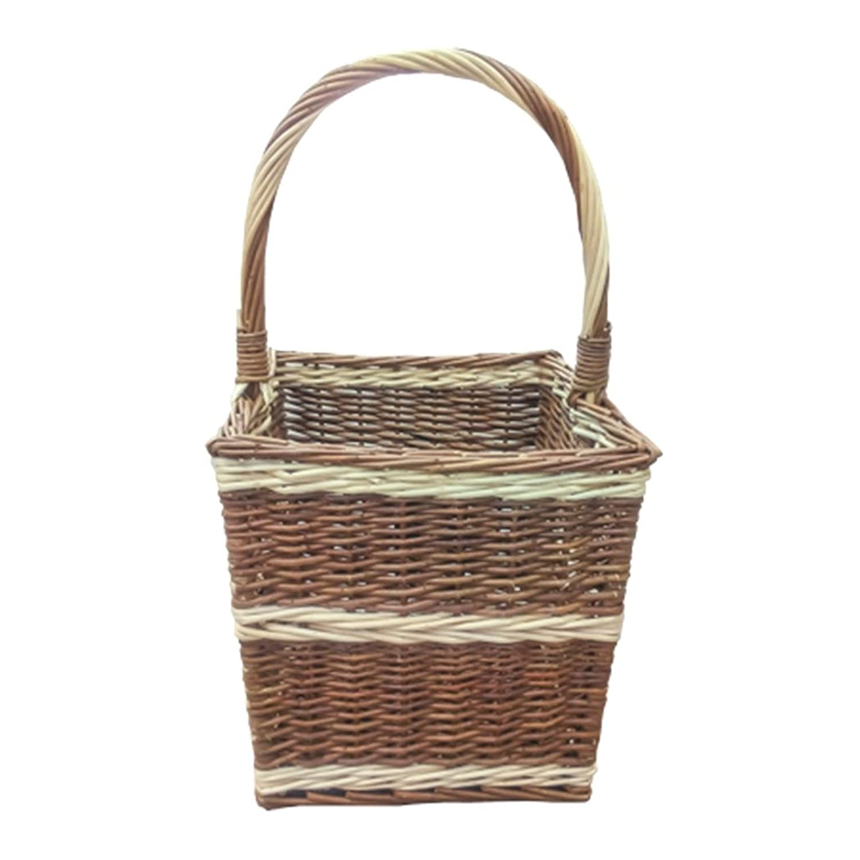30 x 30 x 30 cm Red Hamper Beaufort Rectangular Wicker Shopping Basket Brown