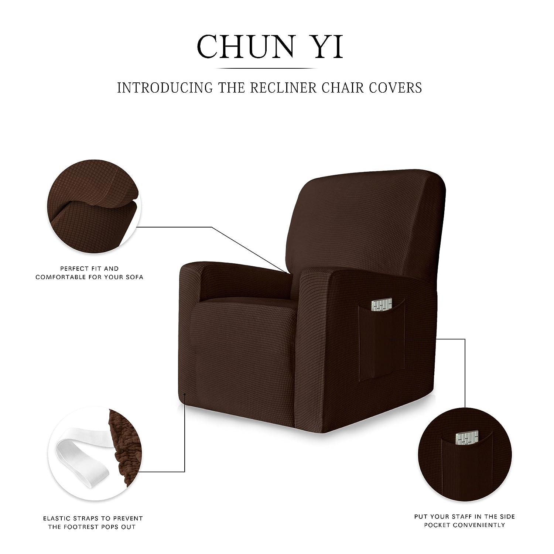 CHUN YI Jacquard - Fundas para sillón reclinable (1 Pieza ...