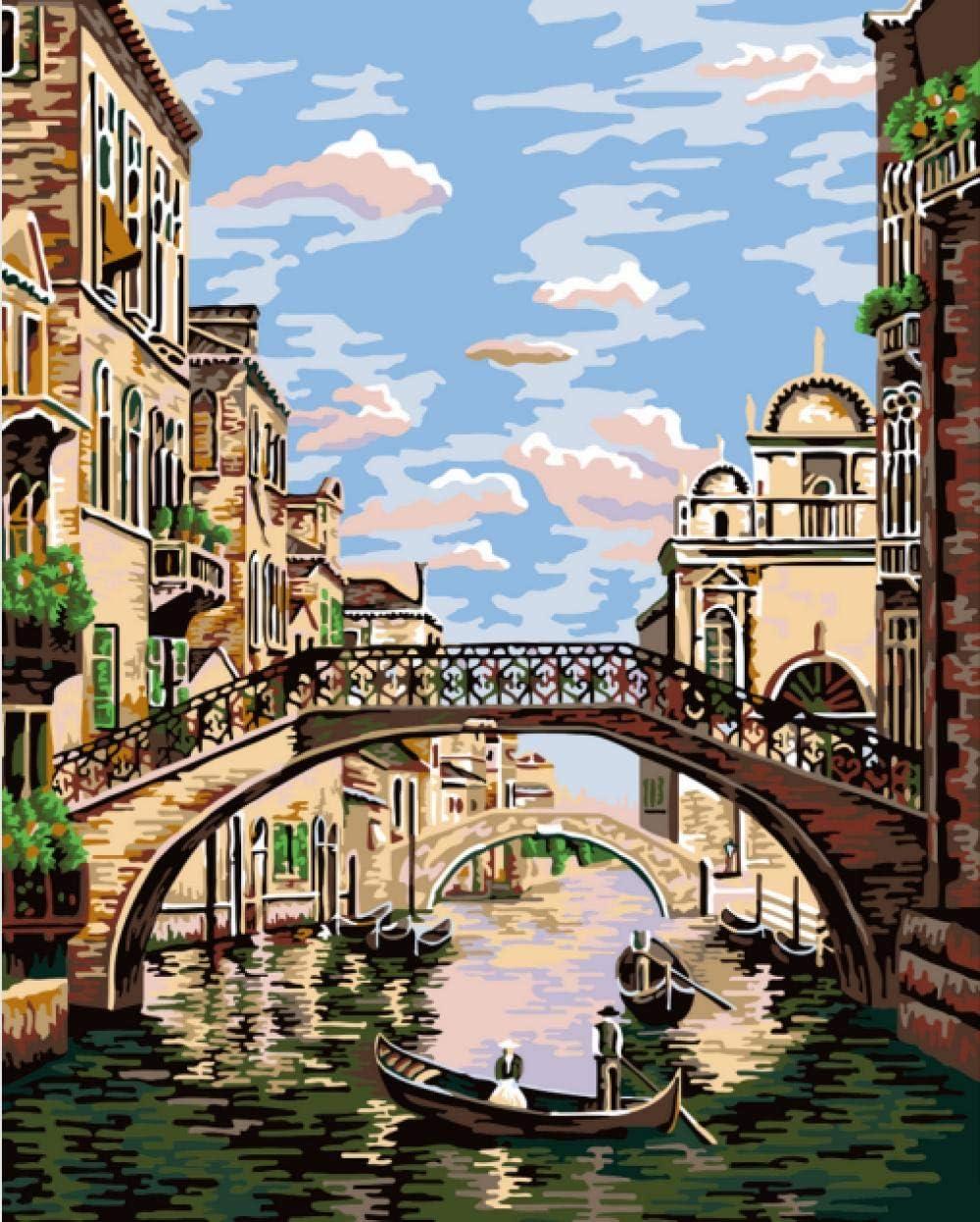 Pintura al /Óleo, Marco CLYDX Pintar por Numeros Lavanda P/úrpura 40x50cm Pintura por N/úmeros para Adultos y Ni/ños Lienzo de Lino
