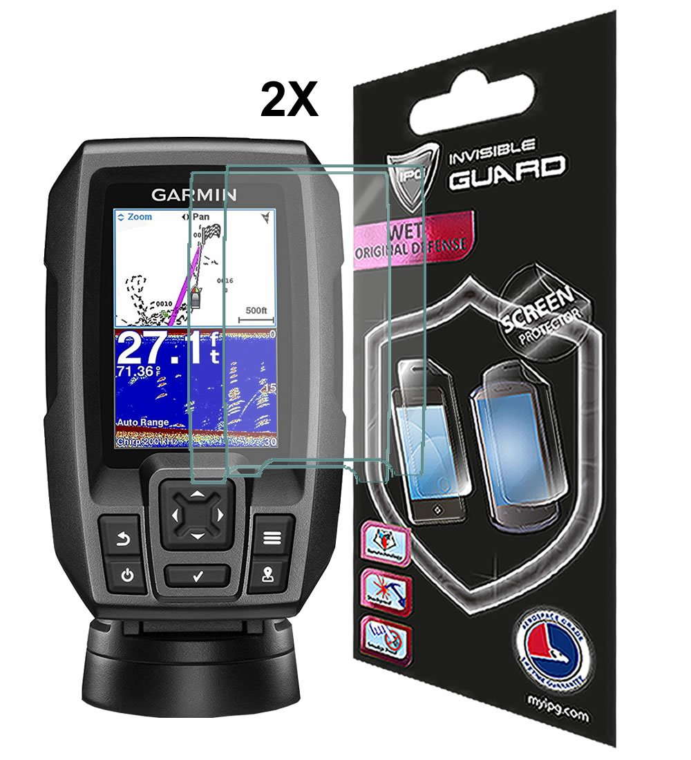 Compatible with GARMIN STRIKER 4-4DV 4CV Fish Finder By IPG 2X Anti Glare Invisible Film Screen Protector Guard Cover Free Lifetime Replacement Warranty Bubble Free IPG Phone Guard