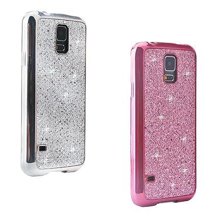 2-Unidades] Galaxy S5 Funda Silicona, Galaxy S5 Neo Cáscara ...