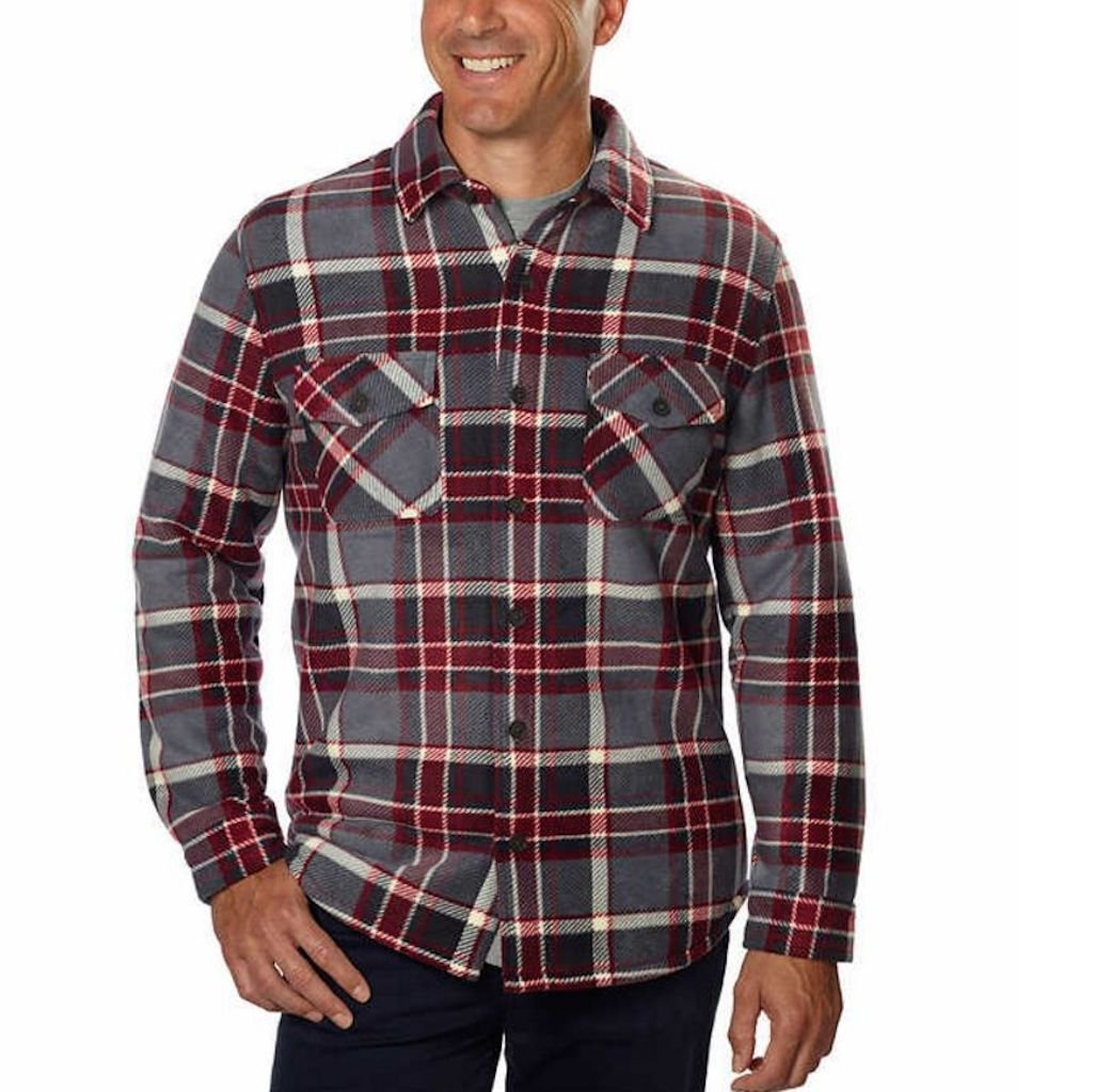 Freedom Foundry Mens Fleece Jacket Shirt at Amazon Mens Clothing store: