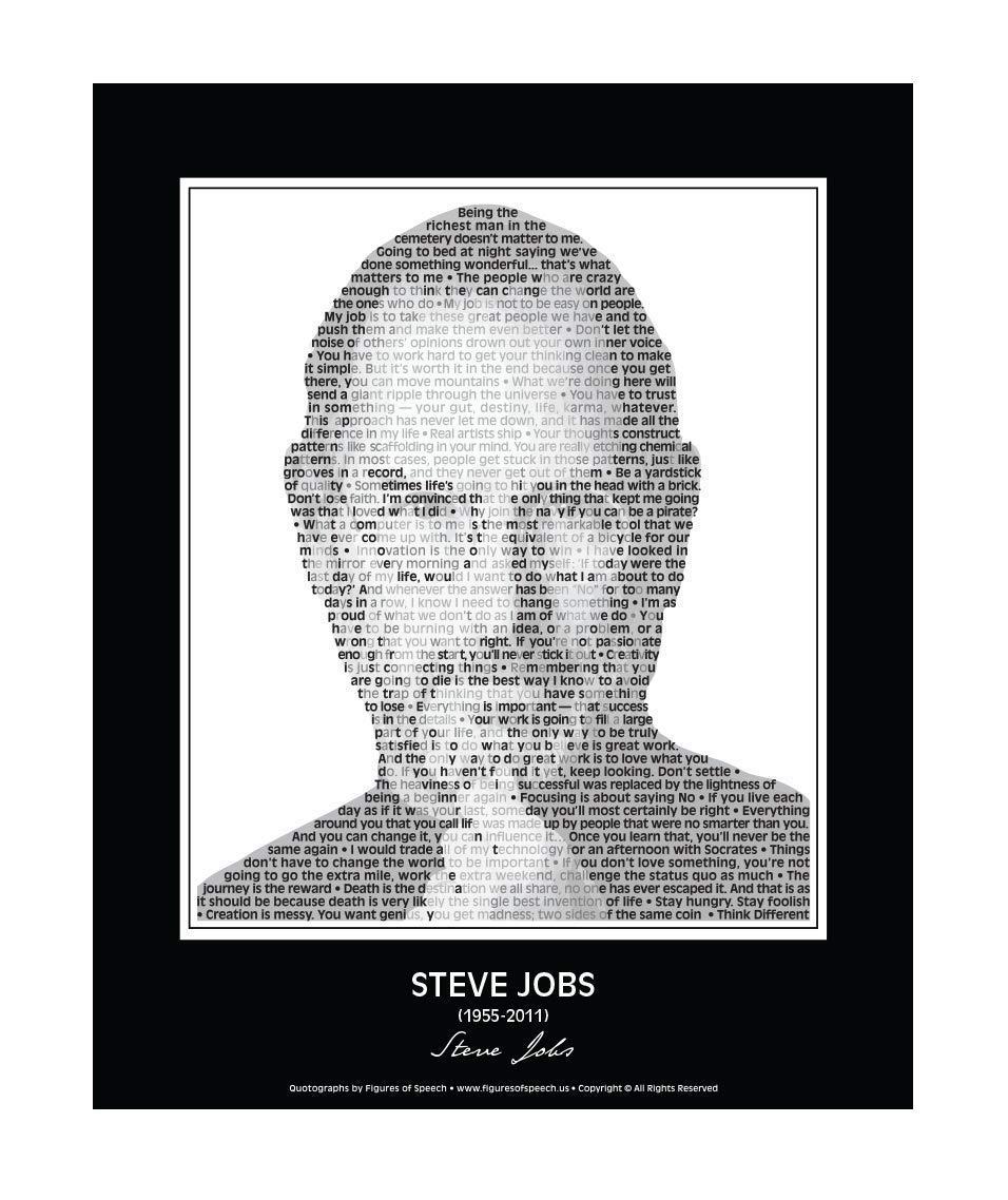 ARTMERLOD Poster Steve Jobs Great People Poster e Stampe Soggiorno Wall Art Decor Canvas Painting Home Decor Immagini Senza Cornice 50X70Cm