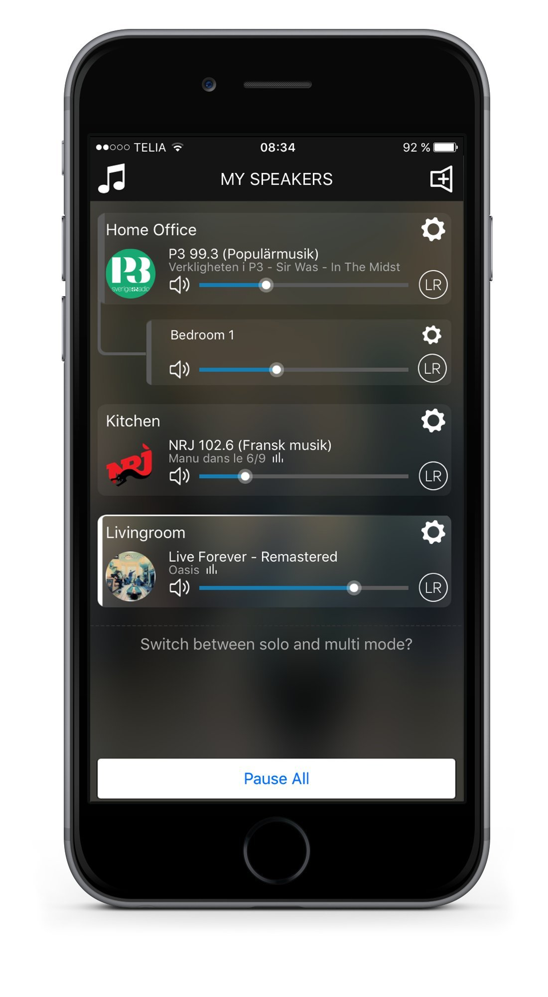 Audio Pro Addon C10 - Compact WiFi Wireless Multi-Room Speaker - High Fidelity - Works With Alexa - Grey