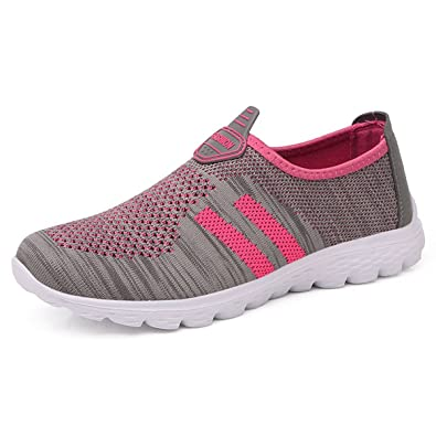 GESIMEI Womens Running Shoes Breathable Mesh Lightweight Slip On Trainers  Outdoor Sports Walking Gym Shoes: Amazon.co.uk: Shoes & Bags
