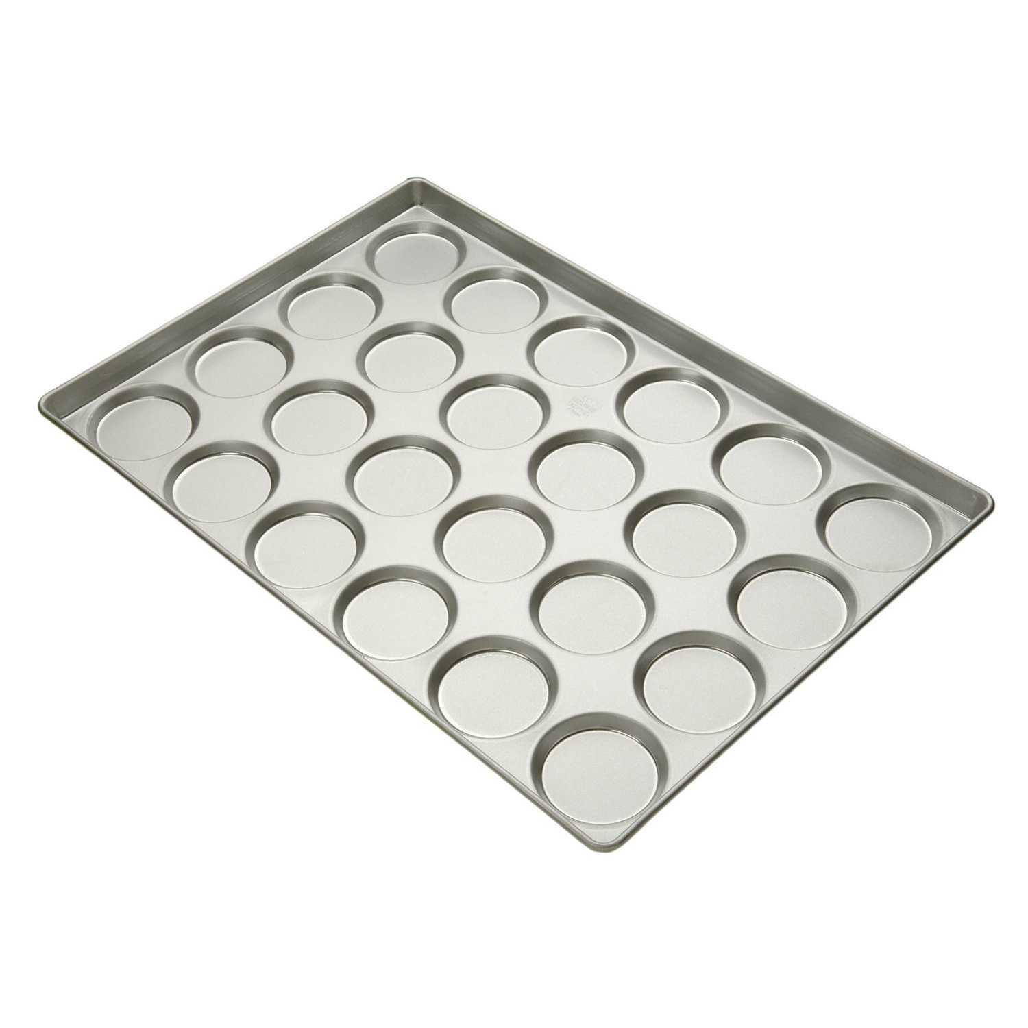 Focus Foodservice Commercial Bakeware 24-Count 3-3/4-Inch Hamburger Bun/Muffin Top Pan