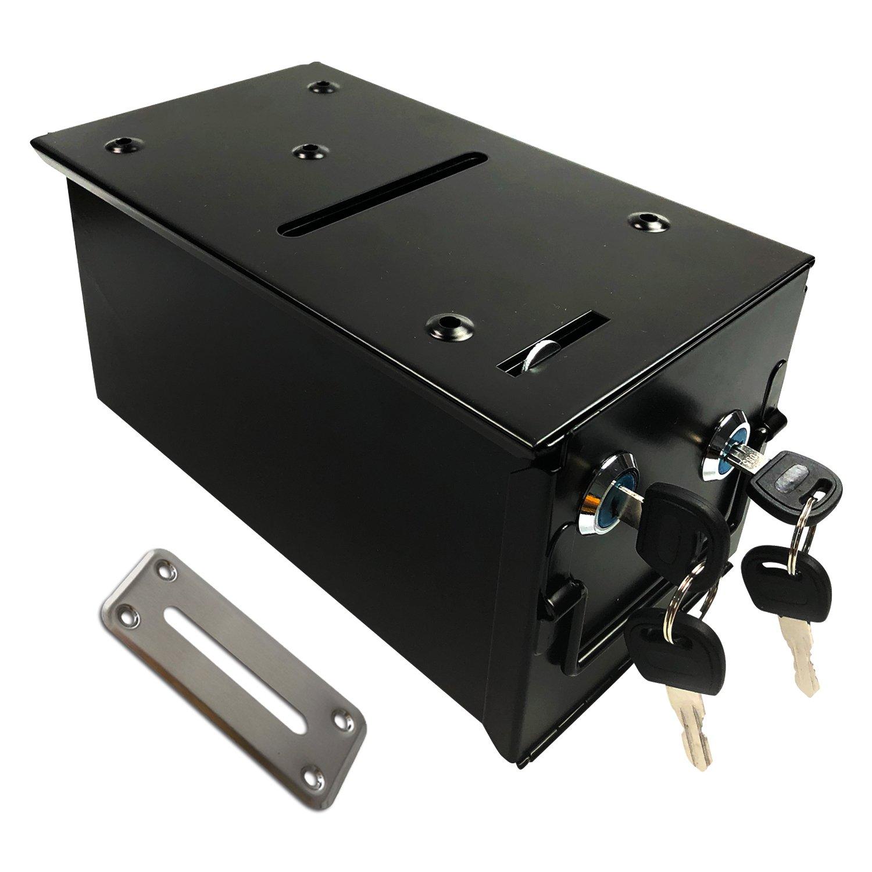 YH Poker Steel Rake Toke Drop Box For Poker Tables with Free Bill Slot