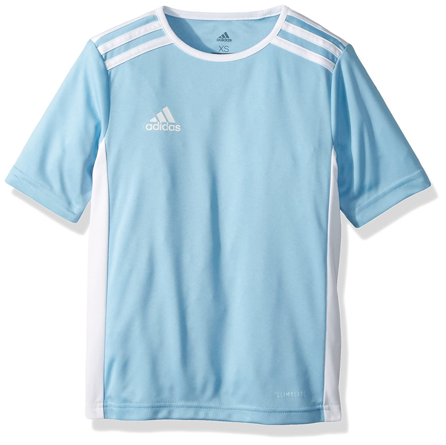 Adidas エントラーダジャージー 男子用 サッカー 18。 B07457F1MM 3S|Clear Blue/White Clear Blue/White 3S