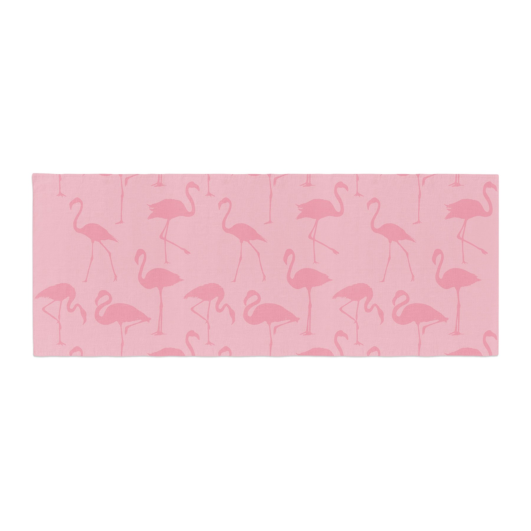 Kess InHouse Kess Original Pink On Pink Animals Abstract Bed Runner, 34'' x 86''
