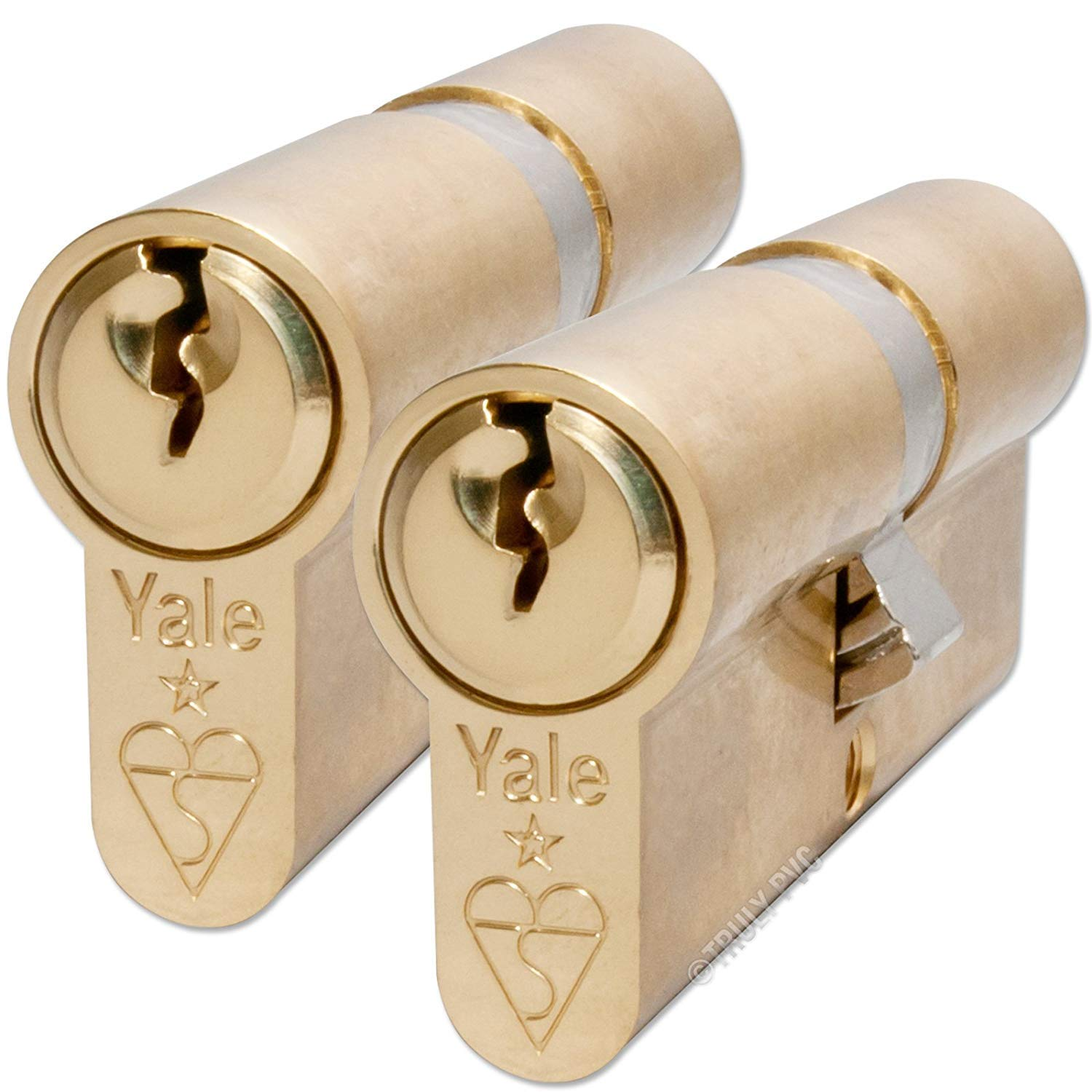 2 x Euro Door Cylinder Barrel Lock UPVC Aluminium Wood Doors 80mm Keyed Alike