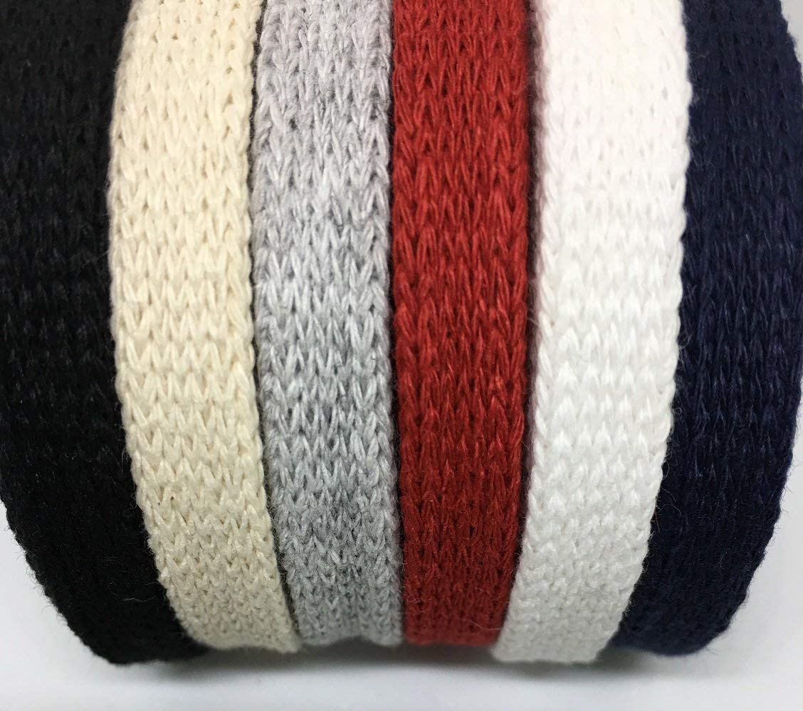 3 Yards, White 3//8 Cotton Flat Draw Cord Drawstrings Handles Lace Trim String Anrox Supply Co