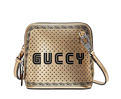 premium selection on feet images of search for newest Amazon.com: Gucci Women's Gold Guccy Sega Script Dome Mini ...