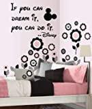 """If you can dream it, you can do it -Wall-decal- 14""""wide X 20"""" High-Black or White, Disney quote, Walt Disney decal"""