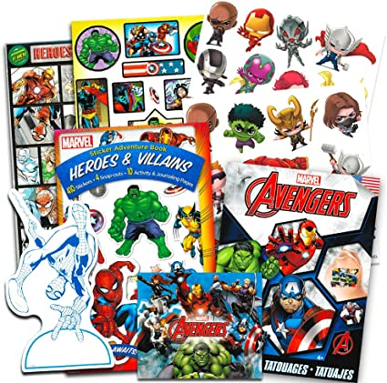 Amazon.com: Pegatinas de Marvel Avengers y tatuajes para ...