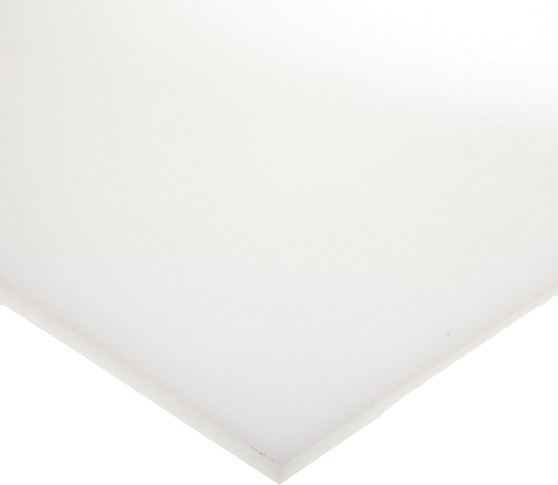 HDPE (High Density Polyethylene) Sheet, Opaque White, Standard Tolerance, UL 94HB, 1/2'' Thickness, 24'' Width, 48'' Length