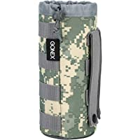 Gonex Upgraded Tactical Military MOLLE Water Bottle Pouch, Drawstring Open Top & Mesh Bottom Travel Water Bottle Bag Tactical Hydration Carrier