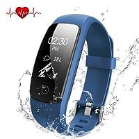 Fitness Tracker Herzfrequenz, DBPOWER Wasserdicht IP67 Smart-Armband mit Activity Tracker Armbanduhr mit Kalorienzähler Schrittzähler + Armbanduhr Ersatz Band für Android und IOS