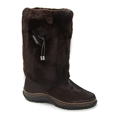 Amazon.com | Real Fur and Leather Winter Boots, Lamb | Snow Boots