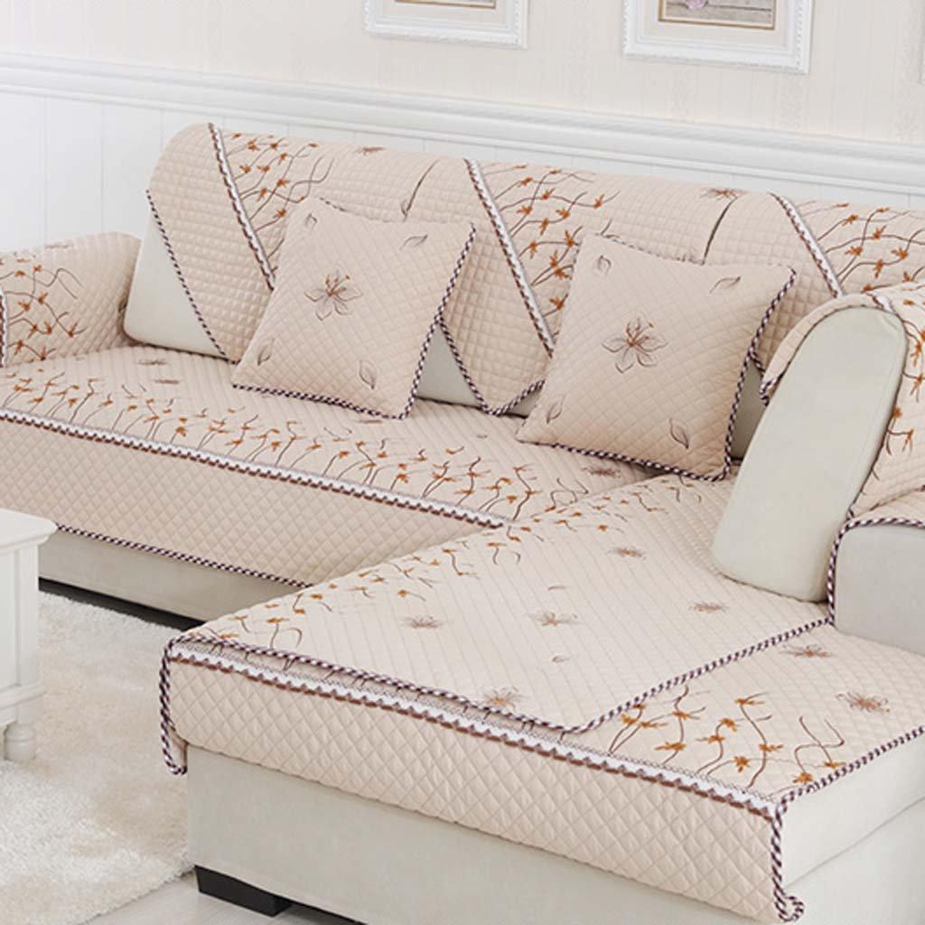 FJHGJH Cuscini di Moda in Stile Europeo per Cuscini Sub - Combinazione di Set di divani Antiscivolo Che Coprono Gli Asciugamani dei divani (Dimensioni   110  180cm)
